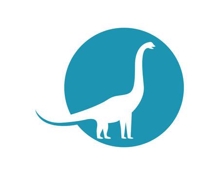 Brontosaurus logo template vector icon illustration design Stock Vector - 105822845
