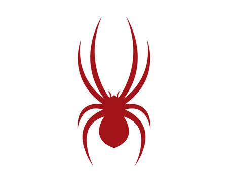 Spinnenlogoschablonenvektorikonenillustrationsentwurf