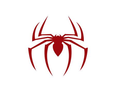 Diseño de ilustración de icono de vector de plantilla de logotipo de araña