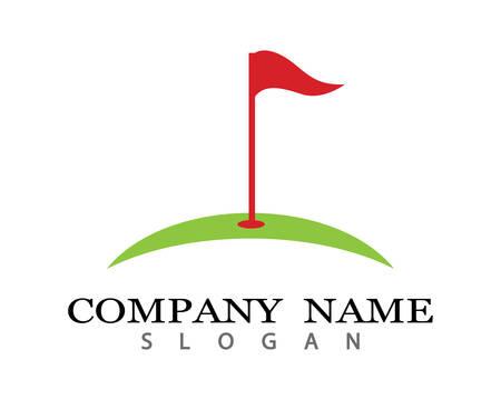 Golf Logo bedrijf sjabloon vector illustratie pictogram ontwerp Logo