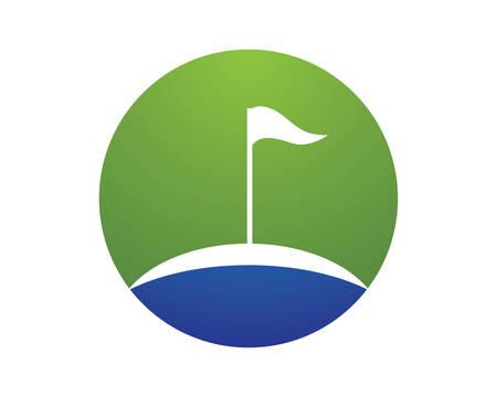 Golf Logo company Template vector illustration icon design