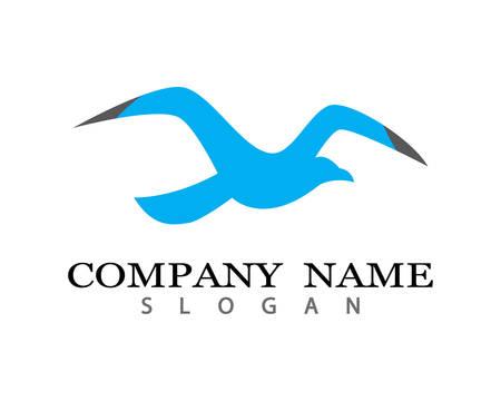 Seagull logo template vector icon illustration design Illustration