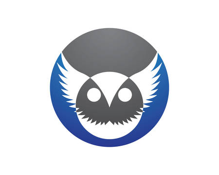 Owl logo template vector icon illustration design