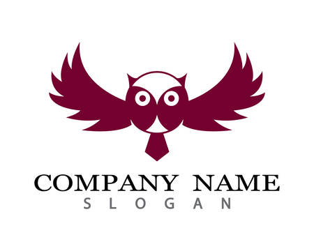 Owl logo template vector icon illustration design
