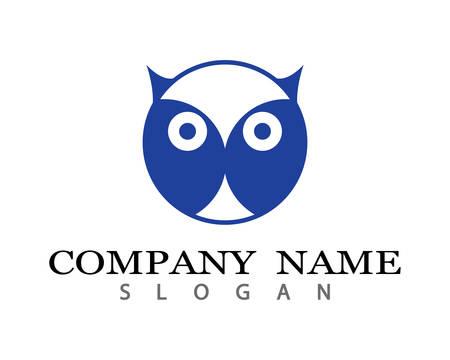 Owl logo template vector icon illustration design Stock Vector - 105733463