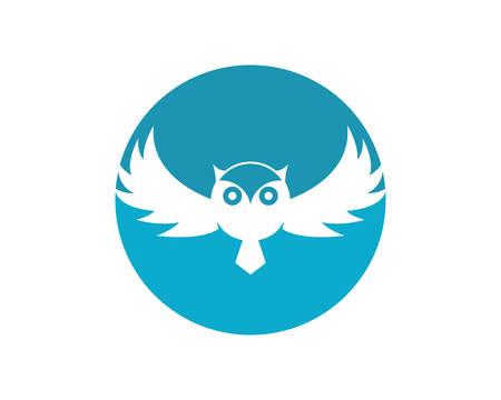 Owl logo template vector icon illustration design Stock Vector - 105733465