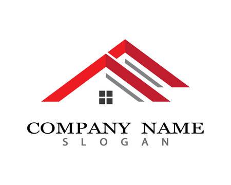 Diseño de ilustración de icono de vector de plantilla de logotipo de propiedad