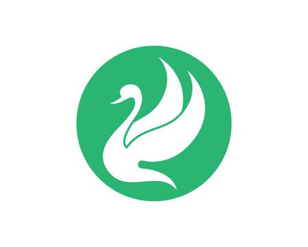 Swan logo Template vector icon illustration design