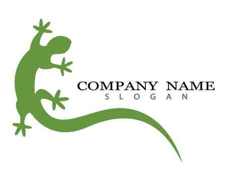Modèle de logo illustration vectorielle lézard