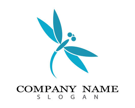 Dragonfly logo template vector icon illustration design