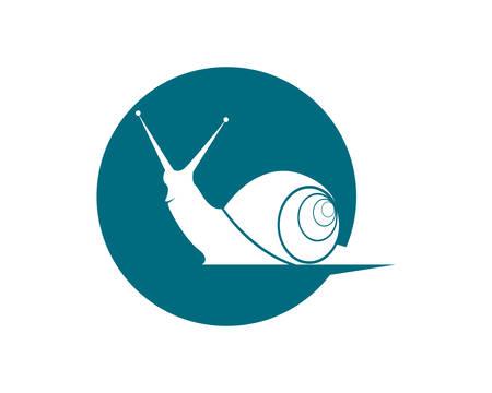 Escargot logo modèle vecteur icône illustration design Logo