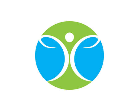 Diseño de ilustración de icono de vector de plantilla de logotipo de vida sana