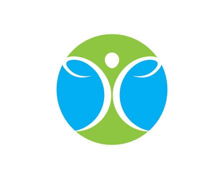 Logo de vie saine modèle vecteur icône illustration design