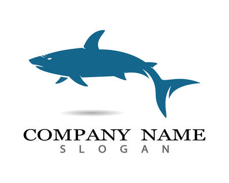 Shark Logo Template vector icon illustration design Illustration