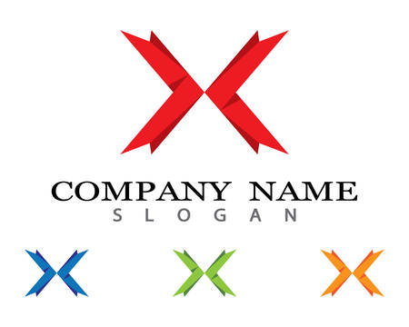 X letter logo vector icon illustration design