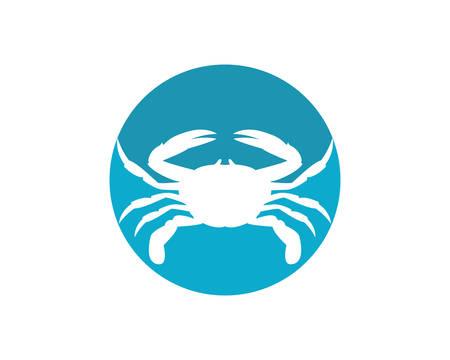 Crab logo template vector icon illustration design