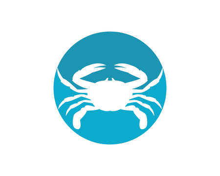 Crab logo template vector icon illustration design