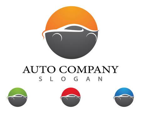 Auto car Logo Template vector icon illustration design Иллюстрация