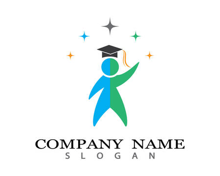 Education Logo Template vector icon illustration design Illustration
