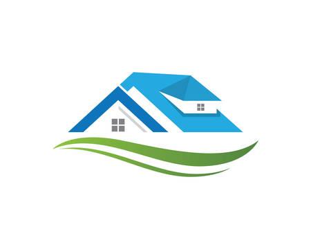 Progettazione dell'illustrazione dell'icona di vettore del modello di logo della proprietà