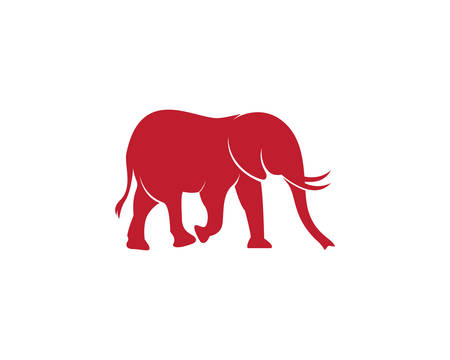 Elephant logo template vector icon illustration design