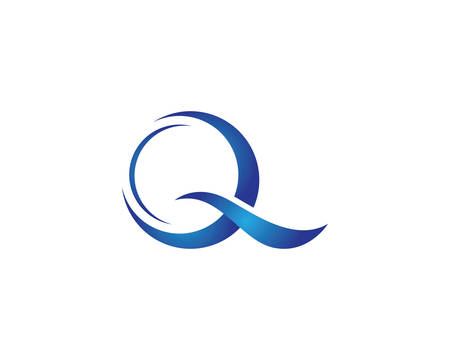 Q letter logo vector icon illustration design Иллюстрация