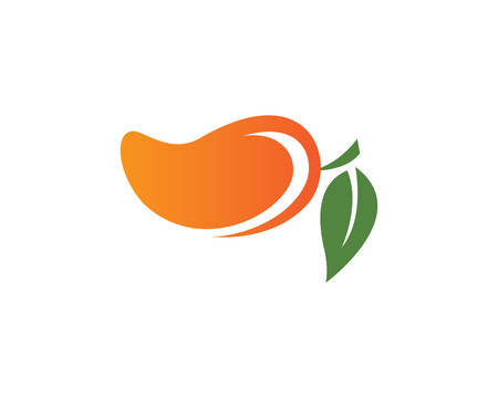 Mango logo template vector icon illustration design