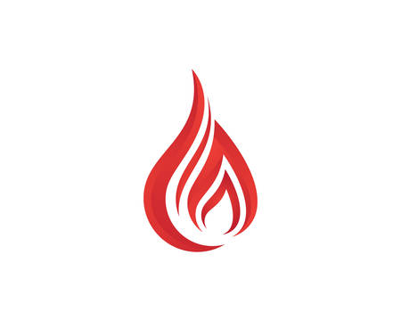 Fire flame Logo Template vector icon Oil, gas and energy logo concep