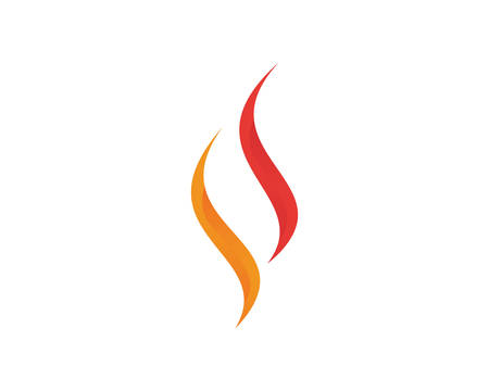 Fire flame Logo Template vector icon Oil, gas and energy logo concep Ilustração