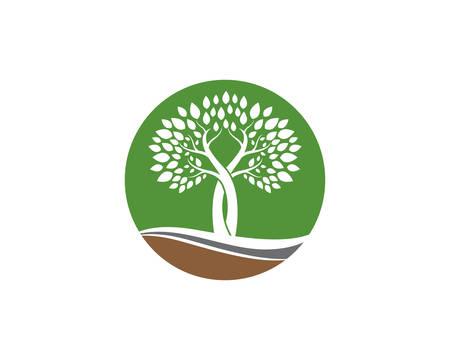 Tree logo template vector icon illustration design Vectores