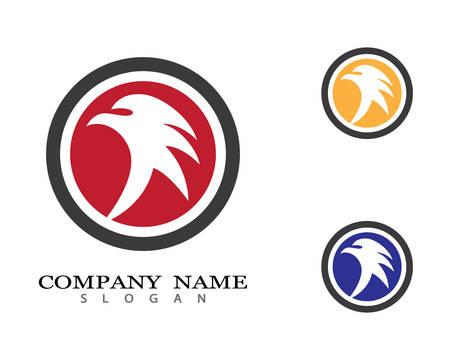Falcon Logo Template vector icon illustration design Illustration