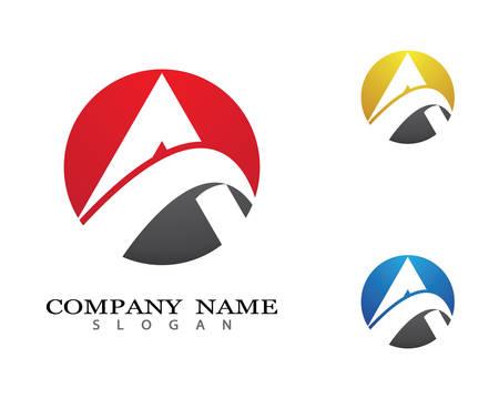 A letter vector icon illustration design 일러스트