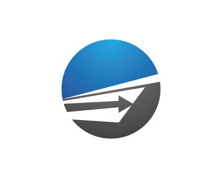 Arrows vector illustration icon Logo Template design Archivio Fotografico - 106386617