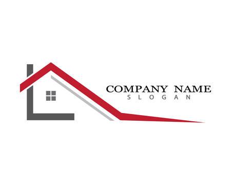 Eigenschaft Logo Vorlage Vektor-Symbol Illustration Design