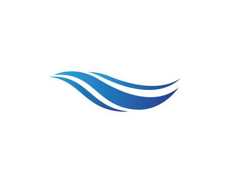Water Wave logo vector icon illustration design