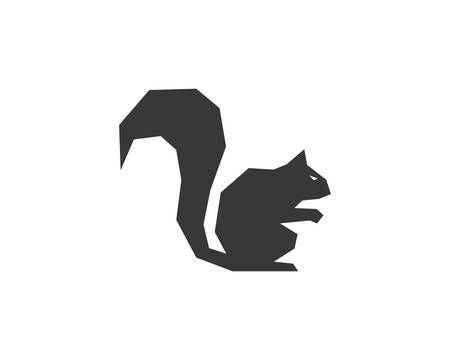 Squirrel logo template vector icon illustration design