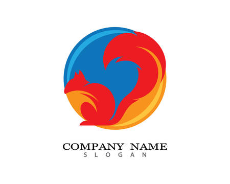Squirrel logo template vector icon illustration design Foto de archivo - 106386873
