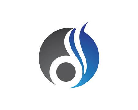 D list logo wektor ikona ilustracja projektu