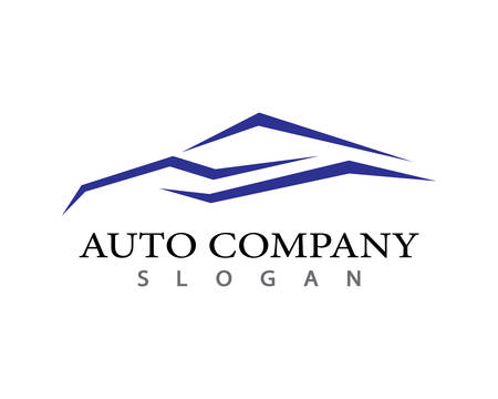 Auto car Logo Template vector icon illustration design  イラスト・ベクター素材
