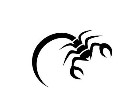 Skorpion-Logo-Schablonen-Vektorillustration