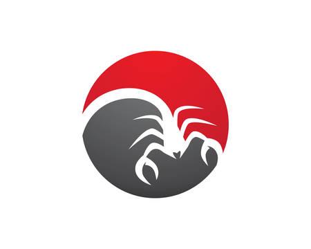 Ilustración de vector de plantilla de logotipo de escorpión