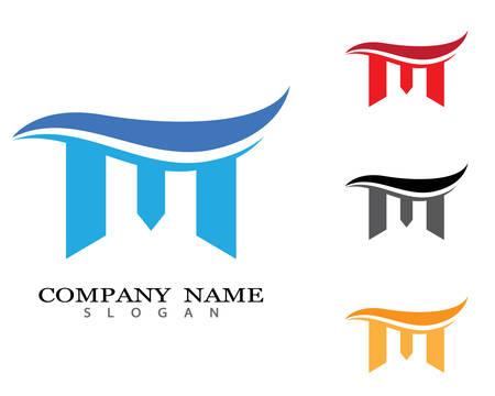 M letter logo vector icon illustration design