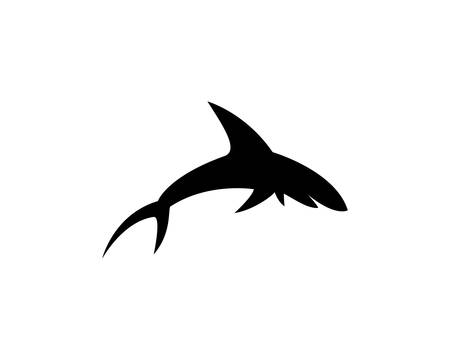 Shark Logo Template vector icon illustration design  イラスト・ベクター素材