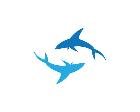 Shark Logo Template vector icon illustration design