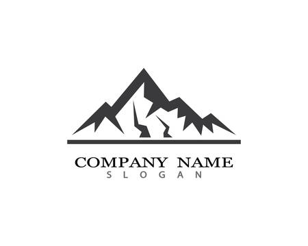 Mountain Logo template vector icon illustration design 일러스트
