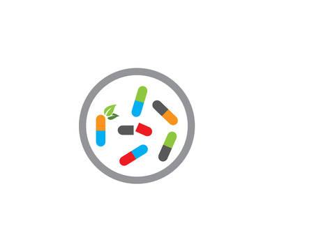 Drug logo template vector icon illustration design