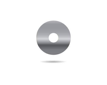 Compact disc symbol illustration design