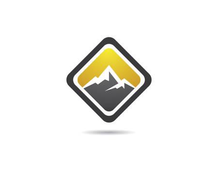 Mountain logo template vector icon illustration design