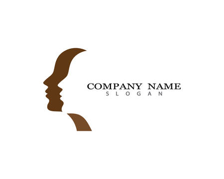 Face logo template vector icon illustration design