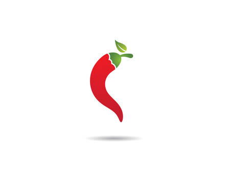 Chili logo template vector icon illustration design Illustration